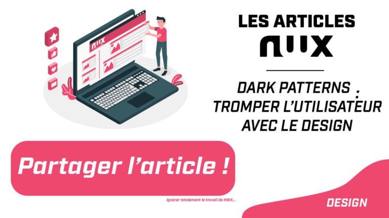 Dark patterns : tromper l'utilisateur avec le design