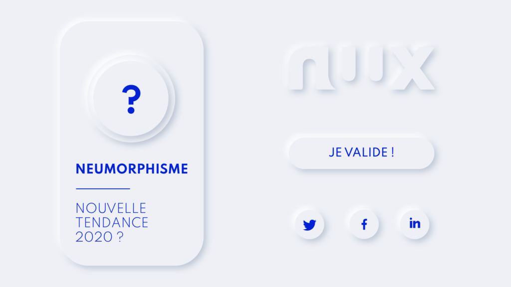 Neumorphisme - nouvelle tendance design 2020